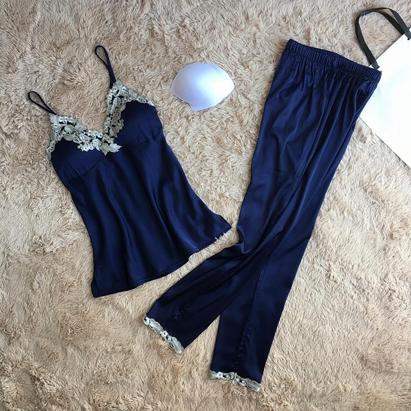 63f683d57de Women Strap Shirt+Shorts Casual Sleep Set Summer Home Clothes Intimate  Lingerie Green Pajamas Suit