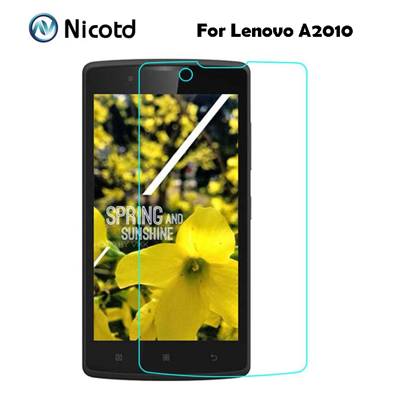 Nicotd For Lenovo A2010 Screen Protector Film Original Anti-shock 9H Tempered Glass Safety Protective Film On A 2010 A2580 A2860