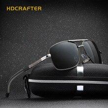 HDCRAFTER Aviator gafas de Sol Polarizadas de Los Hombres Gafas de Espejo Retro gafas de Sol de Diseñador Hombres de la Marca Con Accesorios Para La Cara Cuadrada