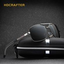 HDCRAFTER Aviator Sunglasses Men Polarized Mirror Glasses Retro Sunglasses Men Brand Designer With Accessories For Square Face