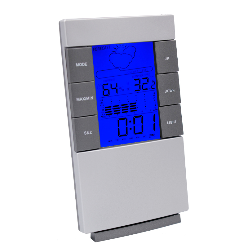 New arrival Digital wireless LCD Thermometer Hygrometer Electronic Indoor Temperature Humidity Meter Clock Weather Station 10%