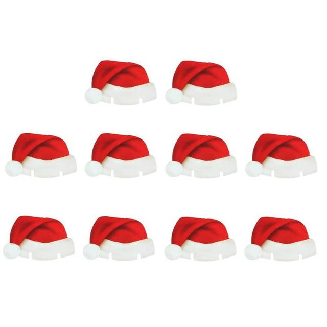 10Pcs/lot Christmas Decorations For Home Table Place Cards Christmas Santa Hat Wine Glass Decoration New Year Party Supplies 1