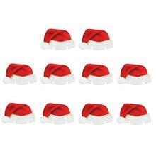 Mikołajowe mini czapeczki na kieliszki