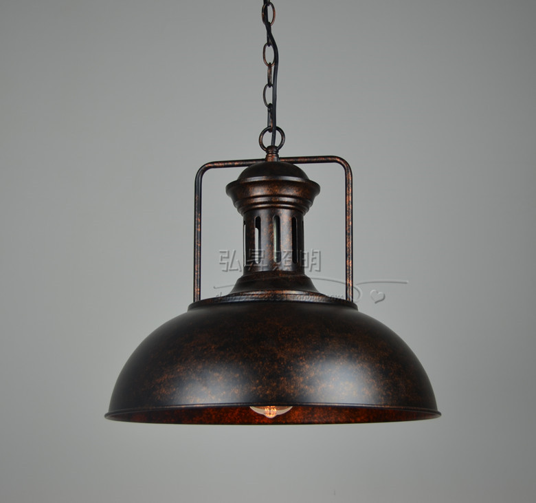 loft industrial style retro American country wrought iron pendant lamploft industrial style retro American country wrought iron pendant lamp