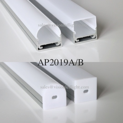 20m(20pcs) a lot, 1m per piece, wide aluminum profile for led double row strips light two row led strips  5050 3528 2835 5630-in LED Strips from Lights & Lighting    1