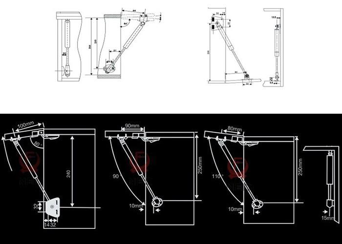 как 100н/10 кг сила лифт поддержка двери весна газа мебели двери шкафа кухонный шкаф петли крышки остается мягкой открыть/закрыть