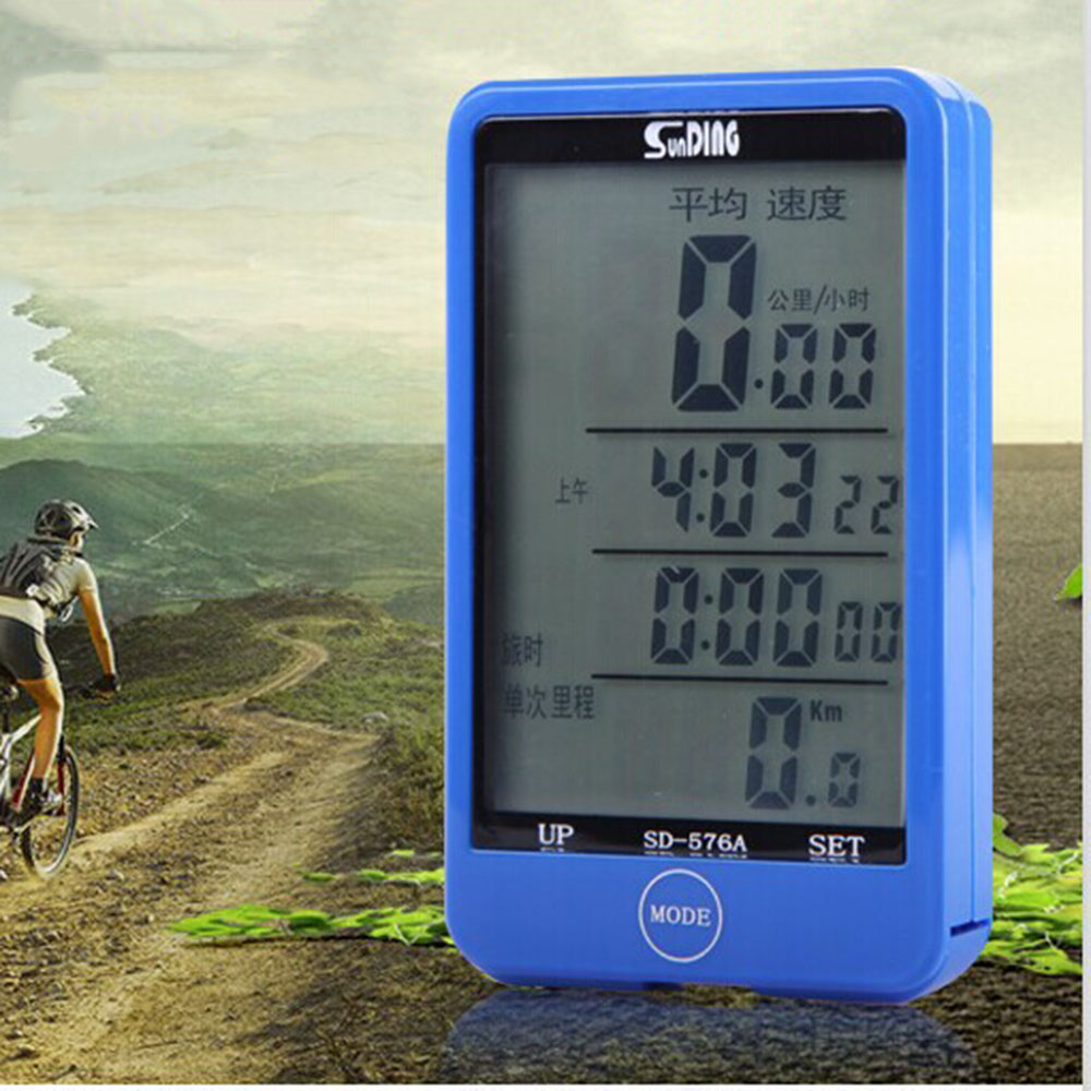 Waterproof Speedometer Wired Cycling Bike Bicycle Computer Odometer Speedometer Touch Button LCD Backlight Backlit