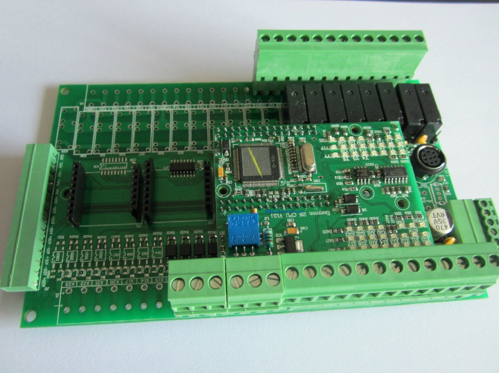 PLC controller 20MR 12 input 8 output 4ad 2da compatible for  fx2n PLC 422 c500 bat08 plc controller battery