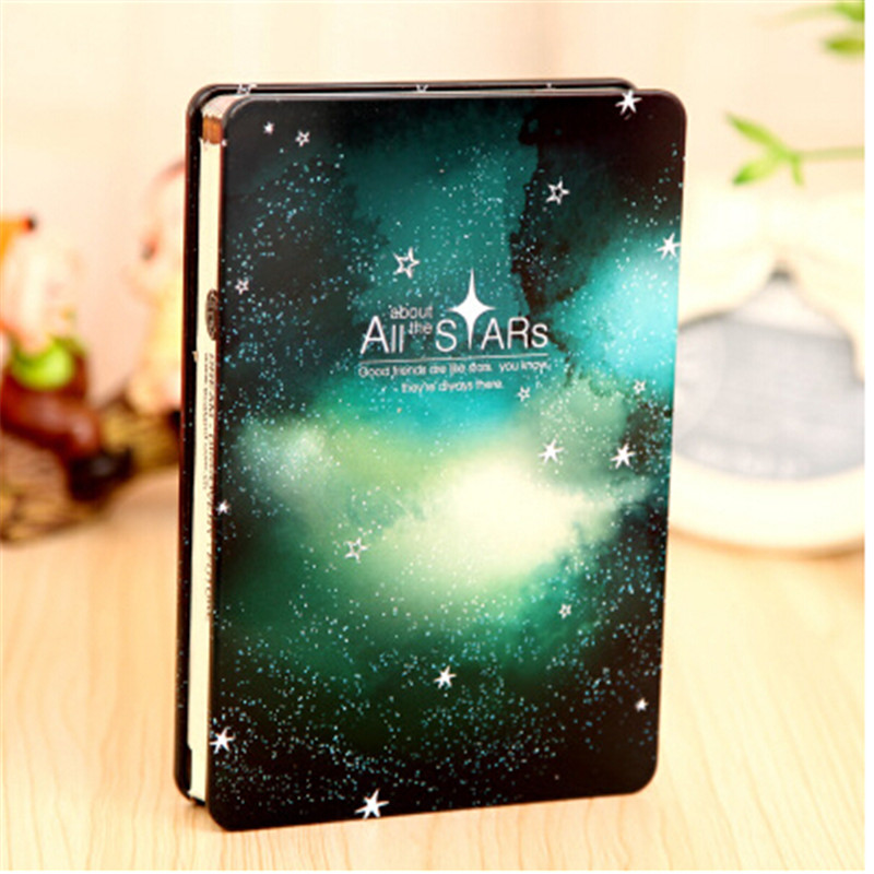 Fromthenon All the Stars Silent Night Hardcover Notebook for Gift Stationery Diary Color Page Notepad with Metal Cover color for painters page 8
