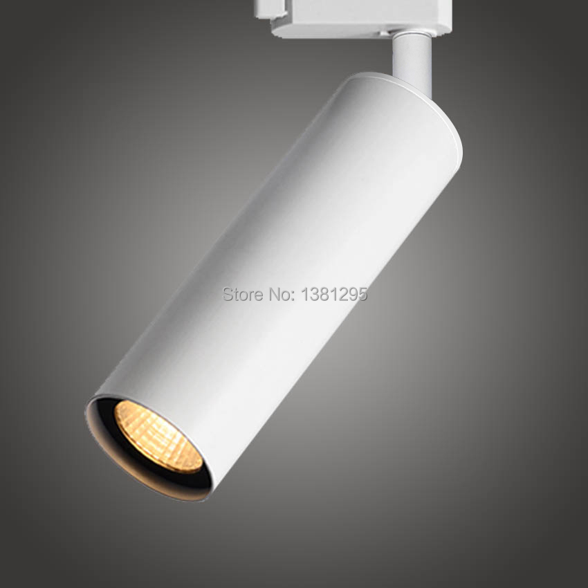 CREE LED Track Light Dimmable 12W COB Adjustable Rail Spotlights Lamp Leds Tracking Fixture Spot Lights Store Shop art gallery