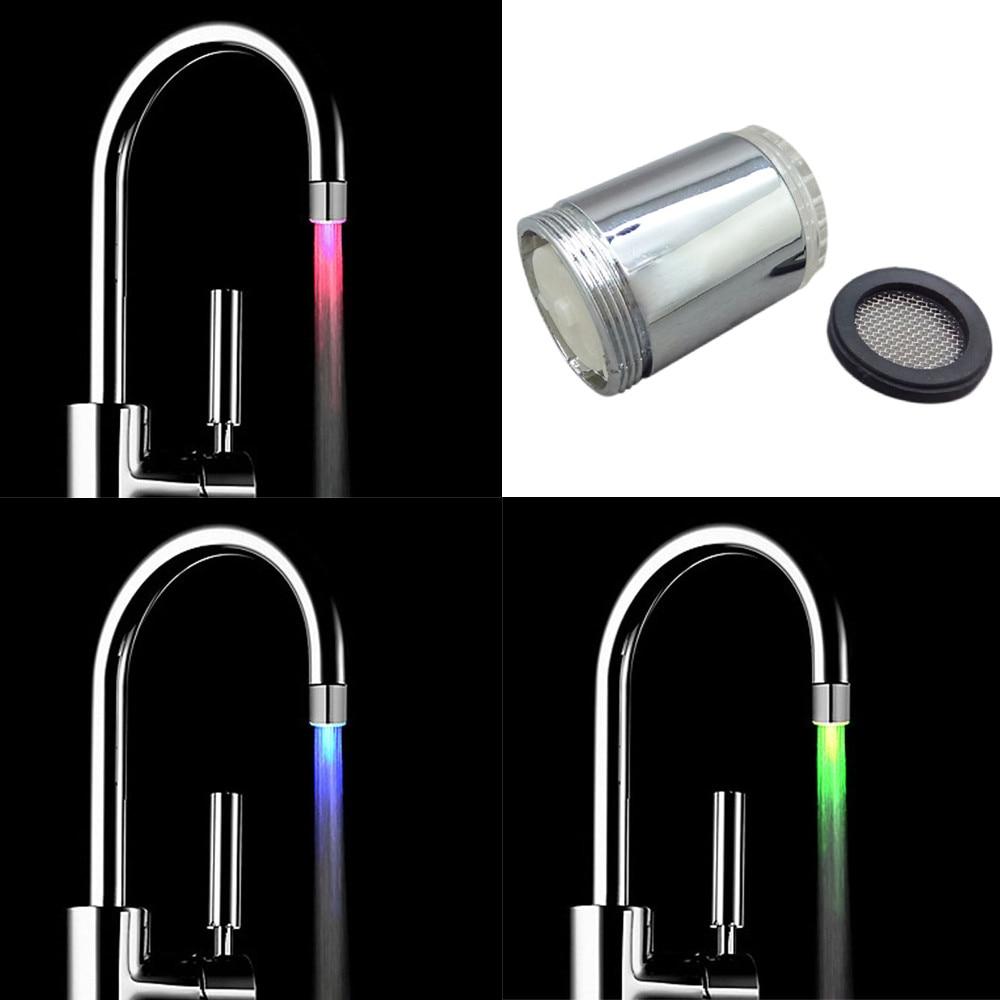 Licht & Beleuchtung Neue Mode Led Licht Temperaturfühler 3 Farbe Küche Wasserhahn Anzapfung Glühen-dusche Led-licht Leuchten Bunte Beleuchtung Reines Und Mildes Aroma