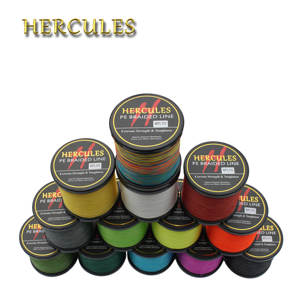 Hercules 100% PE Super Strong Carp Fishing 2000M 50LB Fishing Cord 0.37mm 8Strands Superior Extreme 2187Yds Braided Fishing Line 1000m hercules 8 strands super strong 100% pe power ocean fishing superior extreme 1094yds 70lb 0 44mm braid fishing line