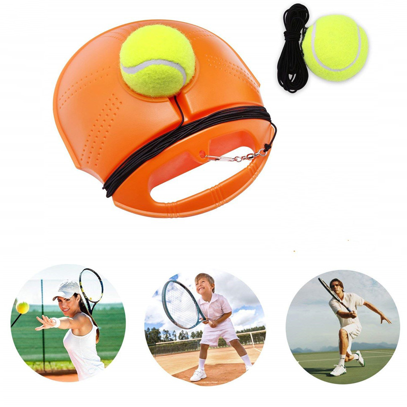 Tennis Training Robot Rebound Ball With Baseboard Sparring Device Tennis Ball Sport Trainer Workout Tool Fitness Equipment
