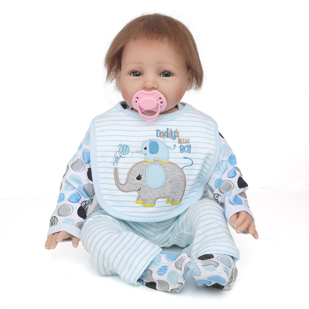 все цены на 55cm Reborn Dolls Soft Silicone Reborn Baby Dolls Girls Princess Bebe Reborn for Kid Children Play House Toy Gifts онлайн