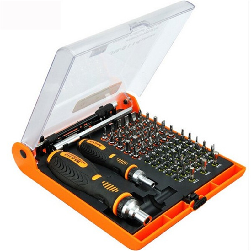 JAKEMY JM-6114 70 in 1 Ratchet Screwdriver Hand Tools Set Phone Electrical Maintenance