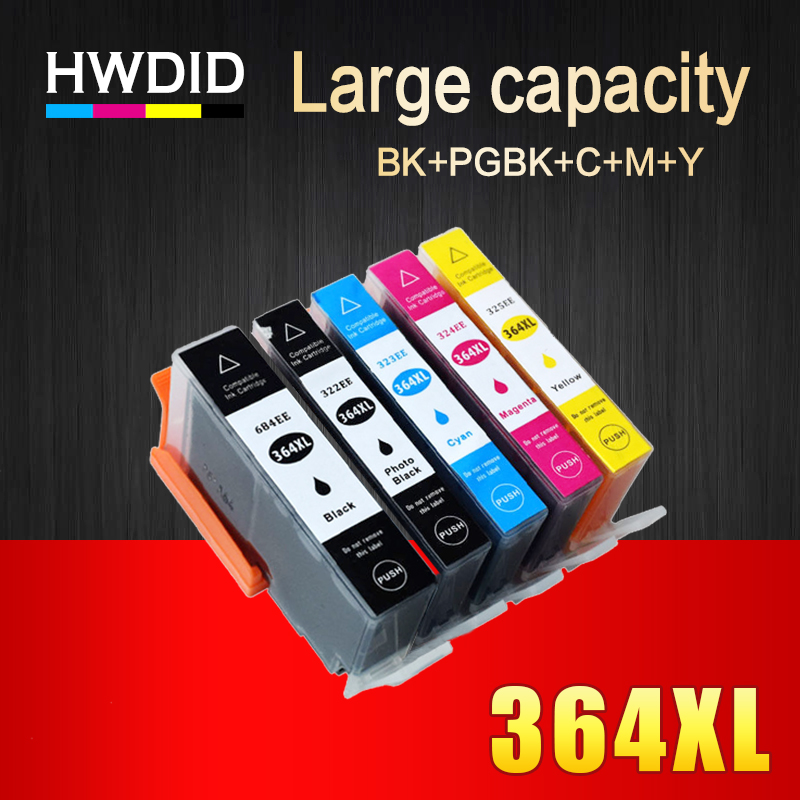 HWDID 364XL Ink Cartridge Replacement for HP 364 XL for hp364 for deskjet 3070A 3520 photosmart 5510 5520 6510 6520 7510 7520 178 364 564 862 564xl 4 slot printhead print head for hp 5520 6520 7510 7520 3520 4610 c5388 c6388 d5468 c410d b111g b210a c410d