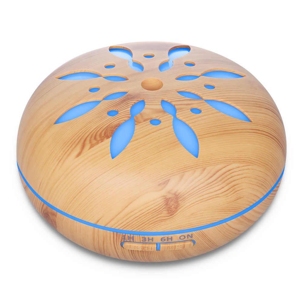 Ultrasonik nemlendirici aromaterapi yağı difüzörü serin Mist 7 renk LED aromalı uçucu yağ difüzör susuz kapanma zamanlayıcı