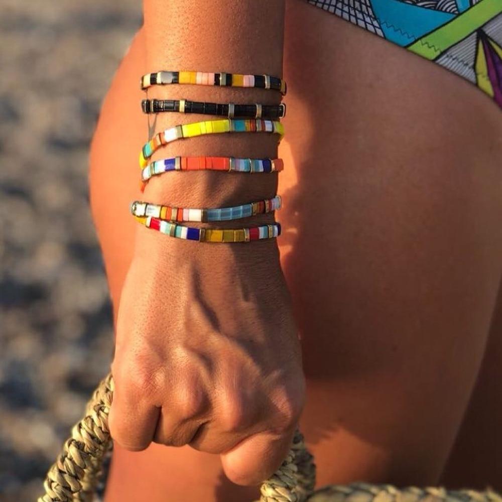 Bohemian Bracelets For Women MIYUKI Tila Beads Bracelet Boho Colorful Pulseira Mujer Adjustable Jewelry Fashion Gift New