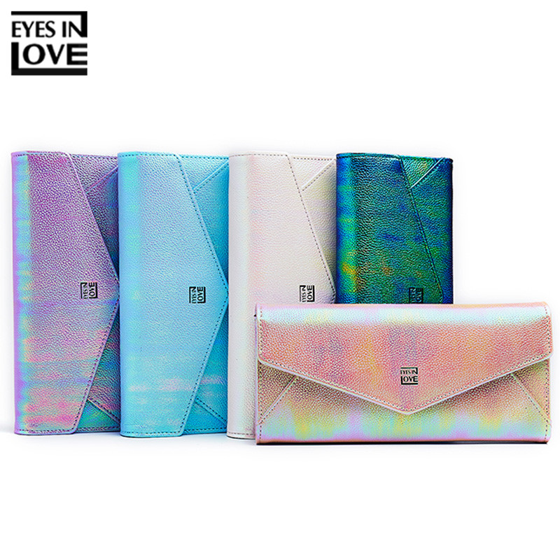 Fashion Glitter Colorful Women Long Wallet Clutch Many Departments Phone Pocket Card Holder Purse Ladies Wallet Female Carteras