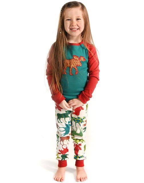 Family matching christmas pajamas 2018 winter long sleeve cotton elk printed family look christmas pyjamas