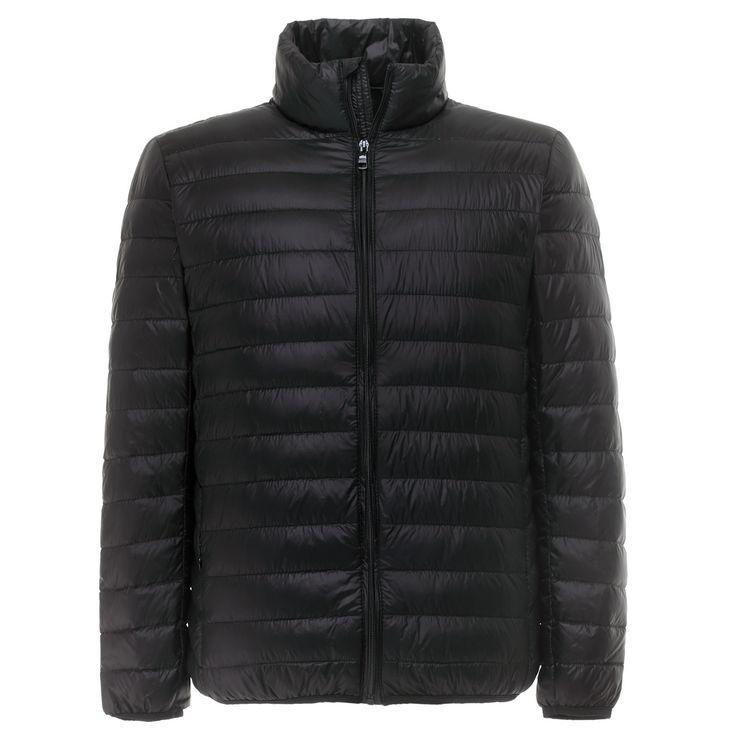 Parkas hombre ultraligero chaqueta hombres de pluma 90% de