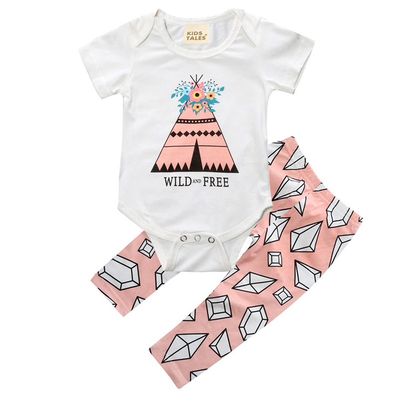 Summer Baby Boys Girls Clothing sets Cotton Baby Set Short Sleeve Tops+Pants Newborn Boys Clothes Set Cartoon Infant Clothing