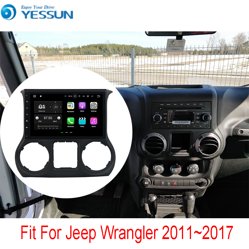 YESSUN For Jeep Wrangler 2011~2017 Car Navigation GPS Android Audio Video HD Touch Screen Stereo Multimedia Player No CD DVD lisslee car android 6 0 gps navi navigation multimedia for dodge challenger radio hd screen audio video no cd dvd player system