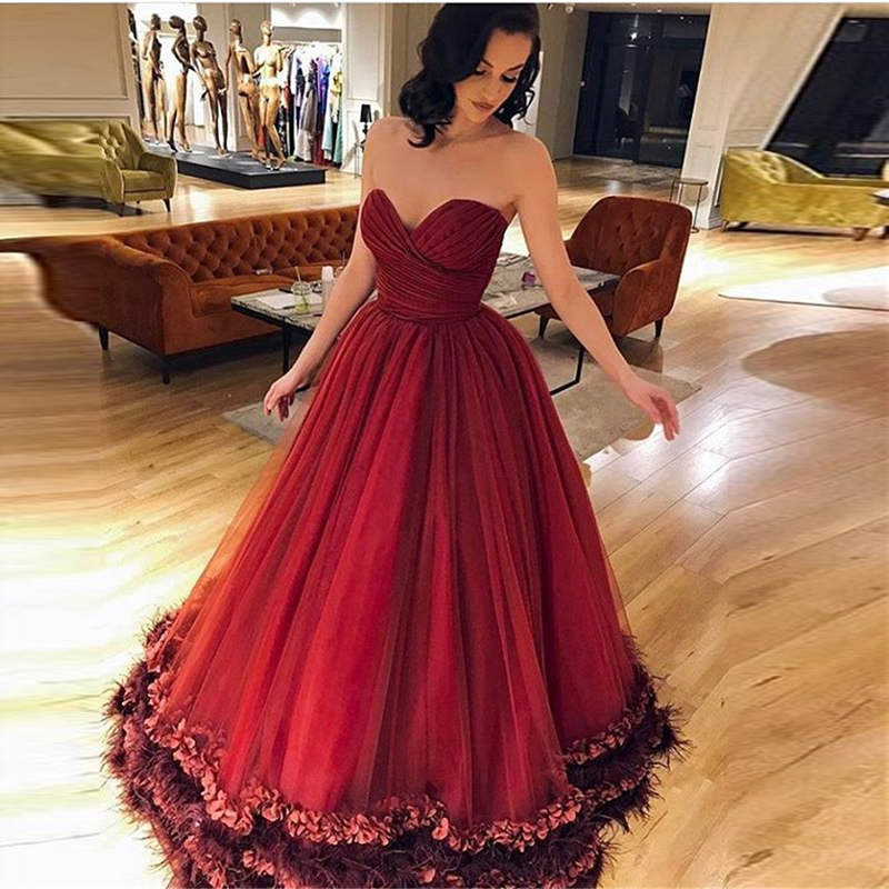 Sexy Long Tulle Formal Evening Party Dress Turkish