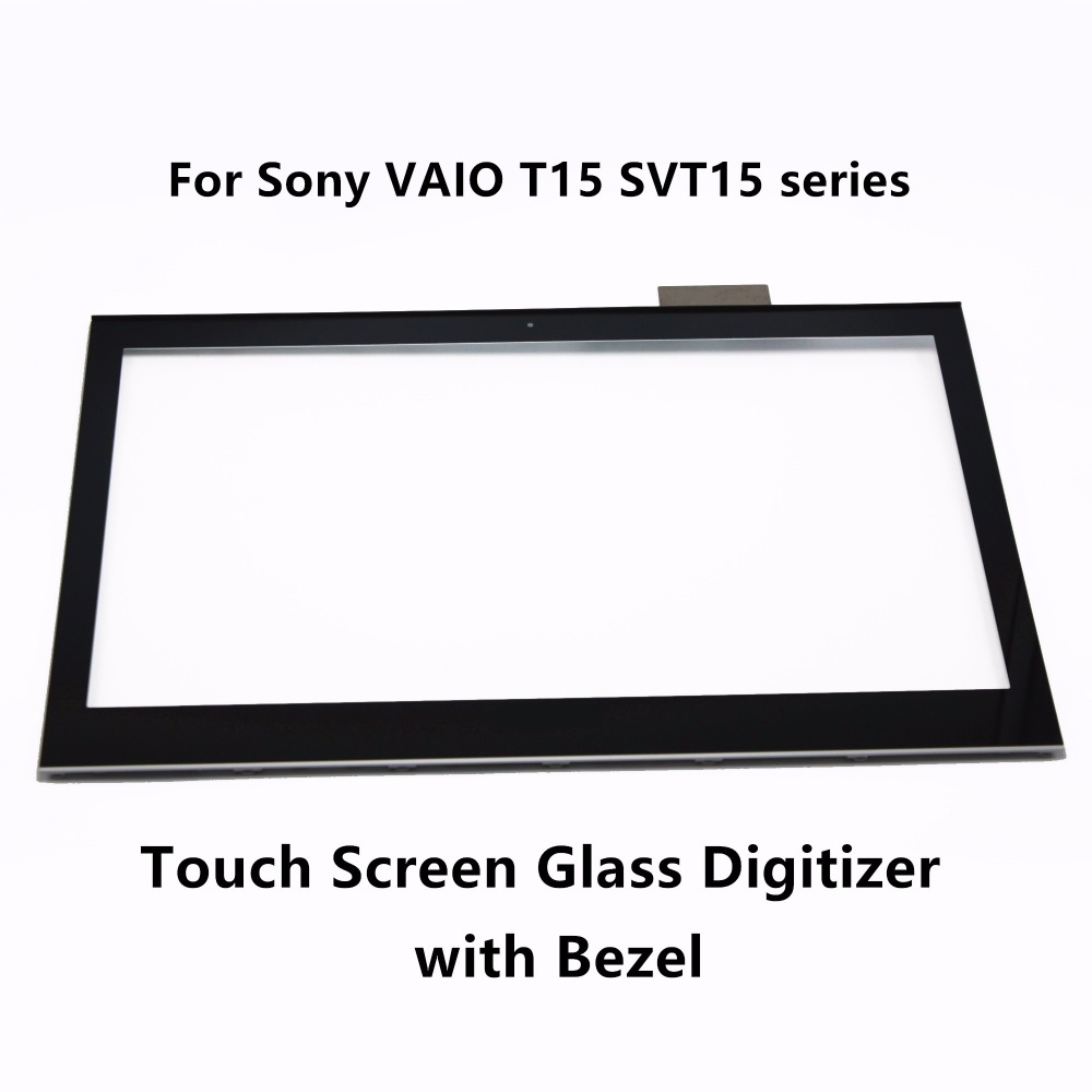 Touch Screen Digitizer LCD Display Assembly + Bezel For Sony VAIO T15 SVT15 series SVT1511M1R SVT151A11M SVT15117CXS SVT15117CDS 13 3 for sony vaio svf13n12cgs svf13n23cxb svf13n17scs svf13na1ul svf13n13cxb full lcd display touch digitizer screen assembly