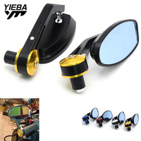 22mm Bar End Rear Mirrors Motorcycle Rearview Mirror for buell XB12R 1125R bmw C650GT C650Sport C600Sport S1000RR R1200ST R1200R