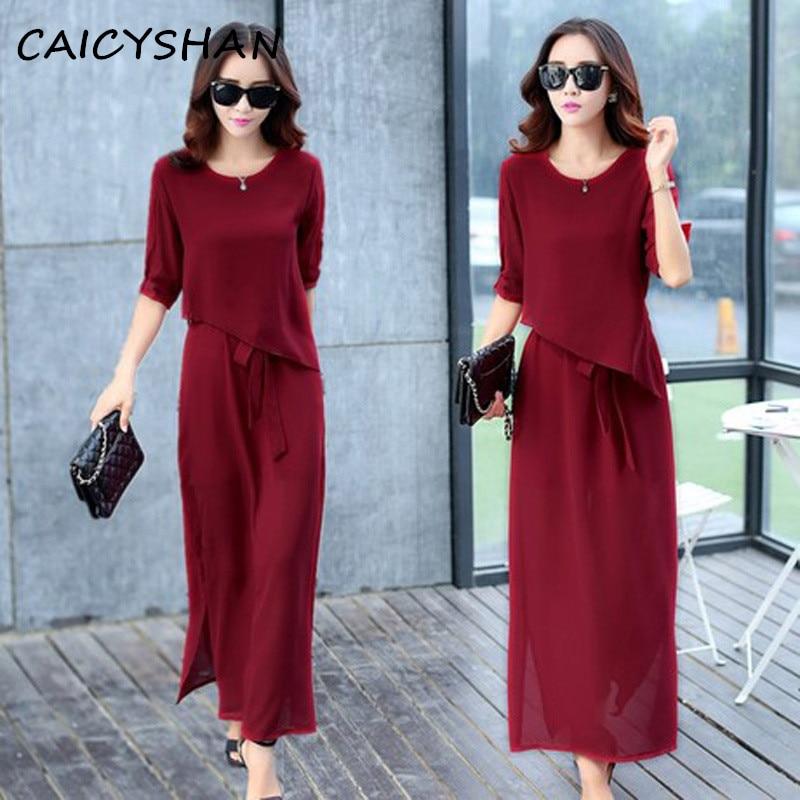 Freeshipping nový letní styl ženy šaty Vestido Plus velikost asymetrické luk štíhlé dlouhé šifónové šaty pro ženy velký jednodílný