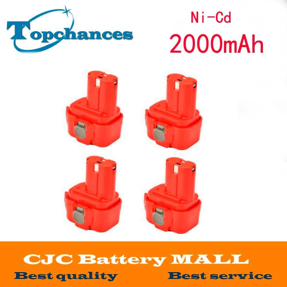 4 pièces 9.6 V 2000 mAh batterie Rechargeable batterie outil électrique perceuse sans fil pour Makita 9120 9122 PA09 6207D ni-cd Bateria
