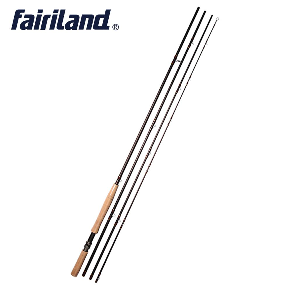 Fairiland Carbon Fly Fishing Rod 11 12 4 2m 14ft Fly Fishing pole 4 Sections Saltwater