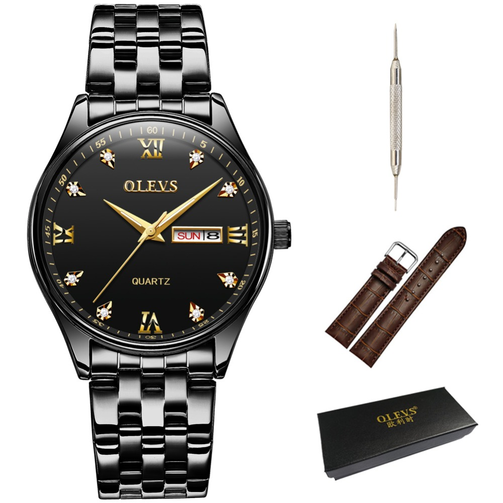 OLEVS Men watch wist watches Top brand luxury relogio Quarz mala watches for lovers stainless steel Business Clock New