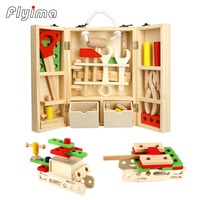wooden tool box kids toys for boys miniature tools set screwdriver toy gardening Woodworking Repair Educational Pretend Play