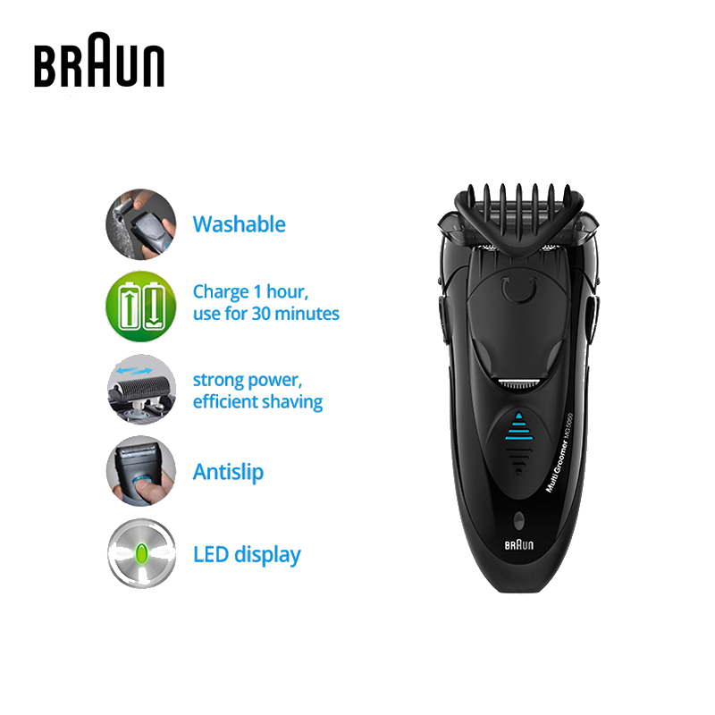 Braun MG5050 Electric Shavers Electric Razors for Men Washable Reciprocating Blades Face Care Quick Charge braun electric shavers 5030s rechargeable reciprocating blades high quality shaving safety razors for men