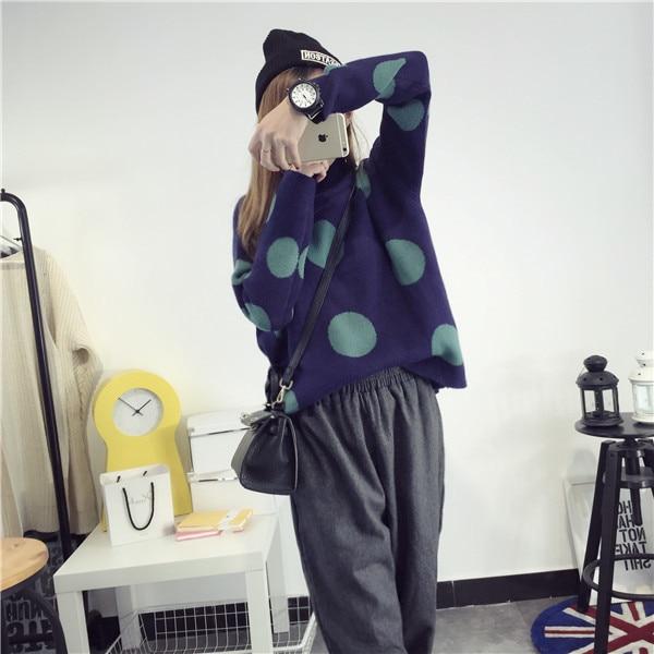 De DoveHalf grueso jersey de cuello alto femenino 2015 nuevo invierno Coreano gr