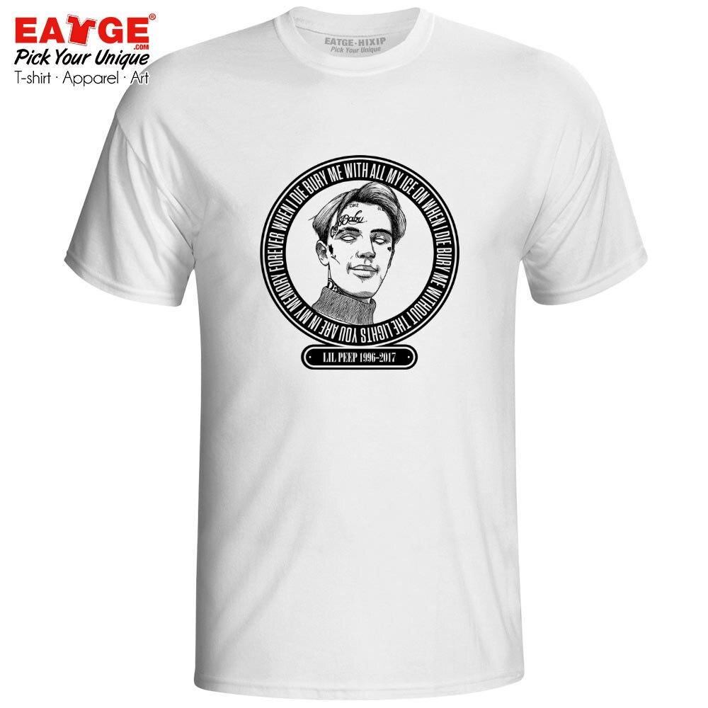 Lil Peep In Loving Memory T Shirt Emo Trap Singer Rapper Rap Hip Hop Tshirt Rock N Roll Punk Fashion T shirt Fan Men Women Tee in T Shirts from Men 39 s Clothing
