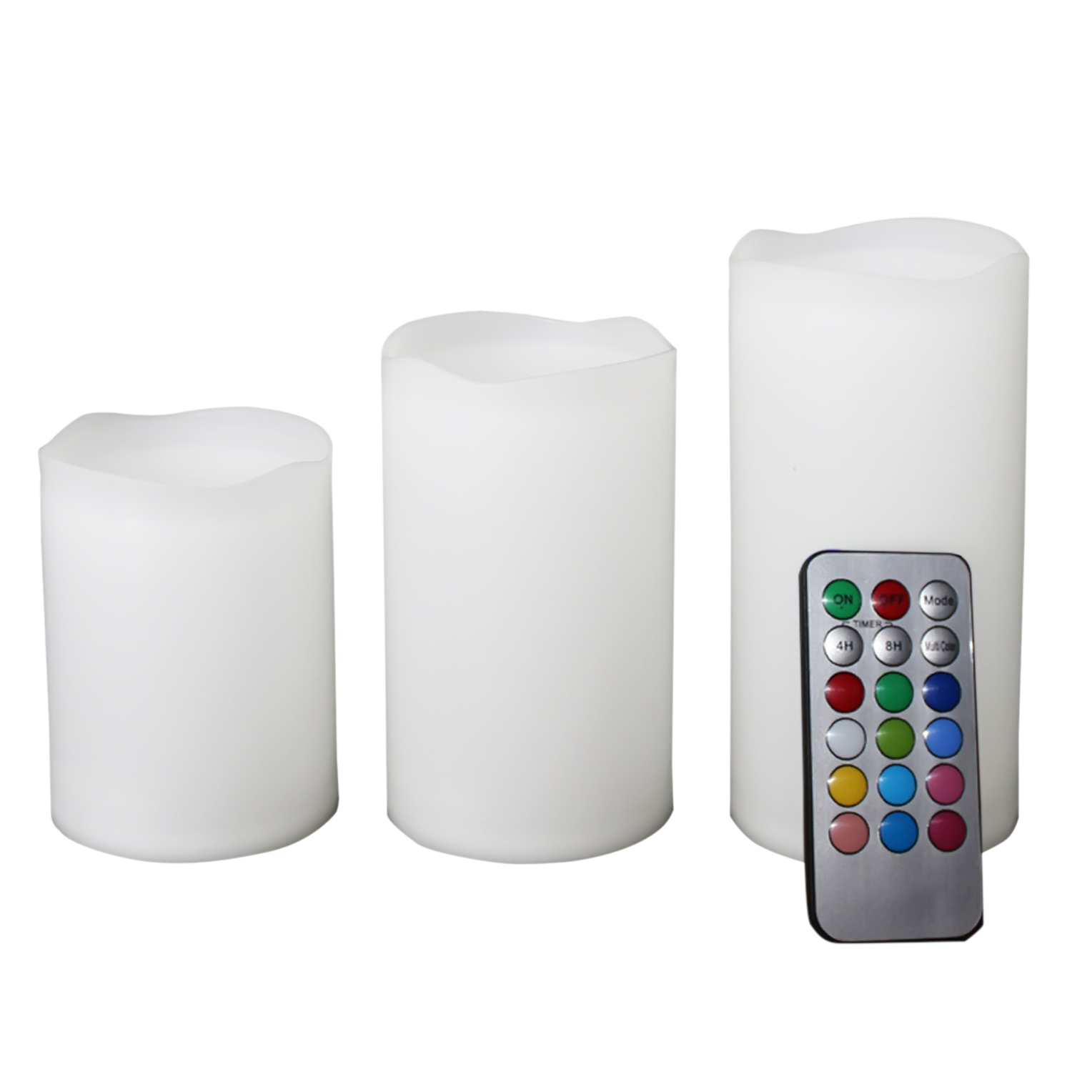 3pc candle wireless remote control candle velas operated led flameless candles bougie light set. Black Bedroom Furniture Sets. Home Design Ideas