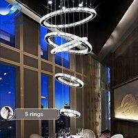 5 Circle Ring Modern Minimalist Penthouse Floor Living Room Led Ceiling Lights Creative Villa Long Circular
