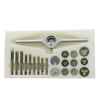 31pcs Die Professional Attack Thread Wire Hand Tools Screw Tap Set High Speed Steel With Wrench Broaching Straight Split Metric