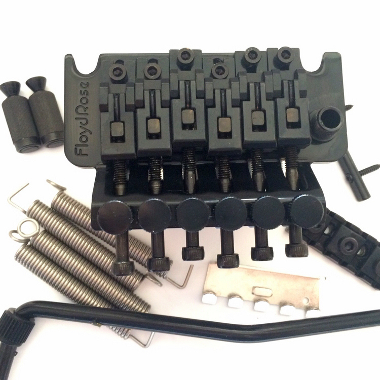 Original Floyd Rose original black double roll electric guitar vibrato system bridge 32mm base genuine original floyd rose 5000 series electric guitar tremolo system bridge frt05000 black nickel cosmo without packaging