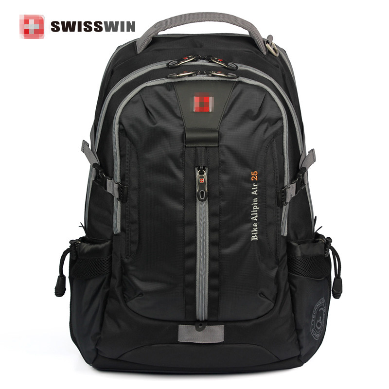 Swiss suissewin Men Daily Backpack Laptop backpack Music Function Large Capacity Backpack Business Travel Sac a dos SW6005v laptop keyboard for asus u44 black without frame sw swiss v111362dsf 0kn0 4111sw00 0kn0 ld1sf01