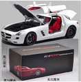 Mercedes-Benz SLS AMG Welly GTA 1:18 Original simulation alloy car model Gull-wing doors Classic cars  fast and Furious