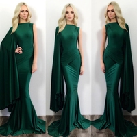 Sexy Long Emerald Green Prom Dress Cheap High Neck Mermaid Prom Dresses 2015 Vestidos De Noche
