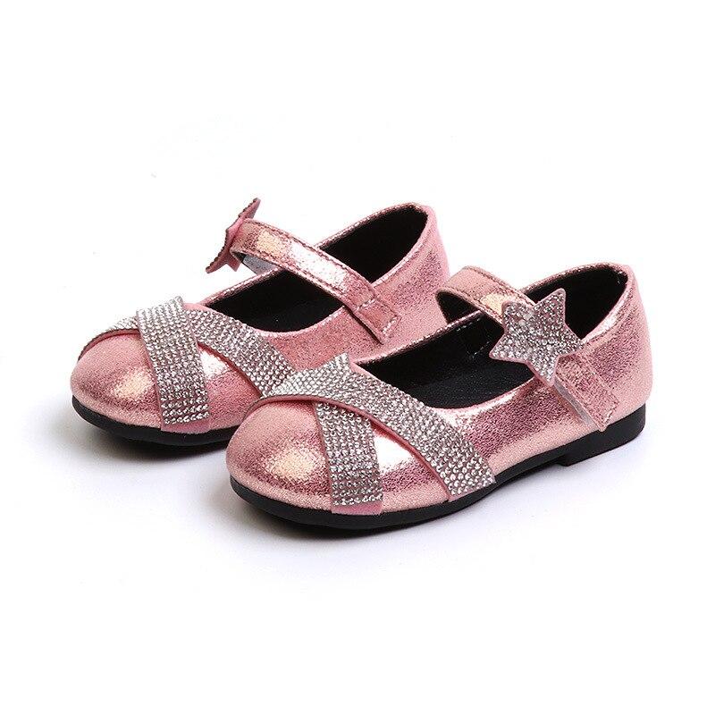 Child Princess Girls Sandals Kids Shoes For Girls Dress Shoes Little High Heel Glitter Summer Party Wedding Sandal Children Shoe