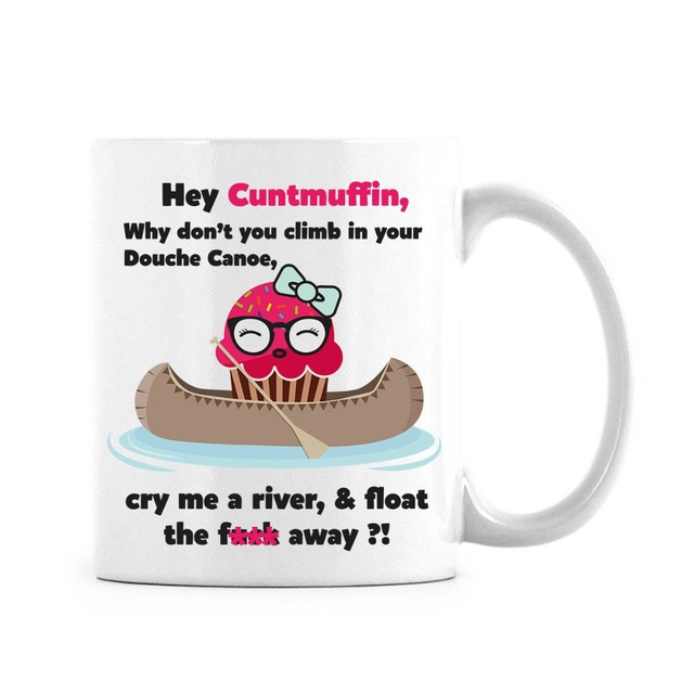 Cuntmuffin Gag Gift cup coffee mug mugs wine travel Douche ...