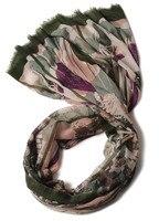 super fine 100%goat cashmere unique printed women's boutique scarf shawl pashmina large size 90x200cm
