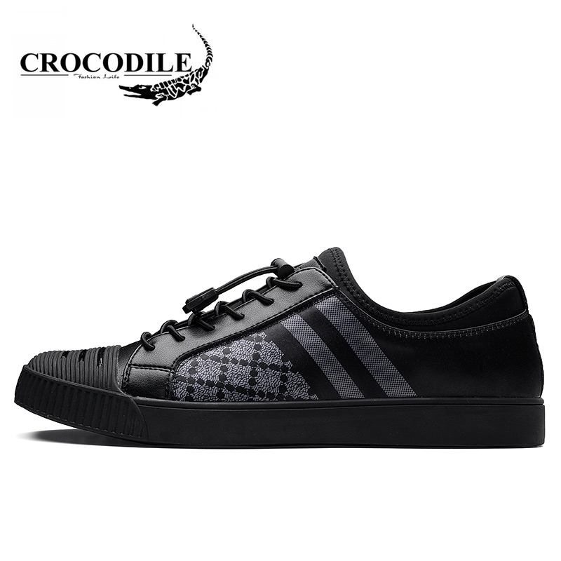 Crocodile 2018 New Men's Skateboarding Shoes Spring Abrasion Resistant Men Sport Leather Shoes Male Outdoors Breathable Sneakers 2017 new spring imported leather men s shoes white eather shoes breathable sneaker fashion men casual shoes