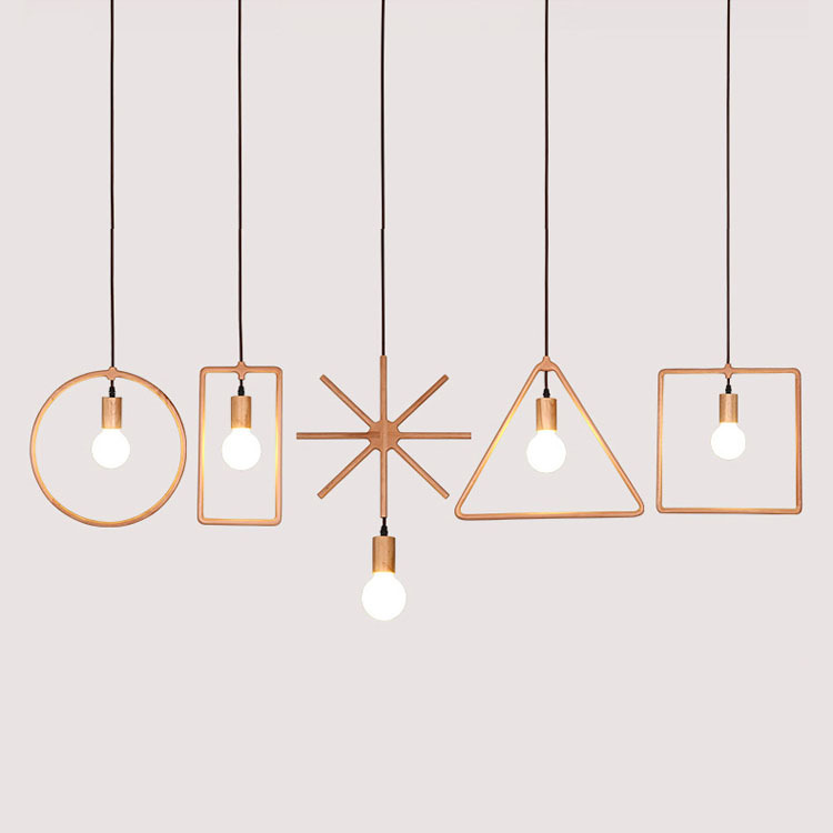 Vintage Pendant Light Oak Wood Retro Lamp 200cm Wire E27 Socket Wood Lampholder Hanging Light Fixture For Dinning Room WPL010 vintage pendant light oak wood retro lamp 100cm wire e27 socket hanging triangle rope light fixture 100 240v luminaire lamparas